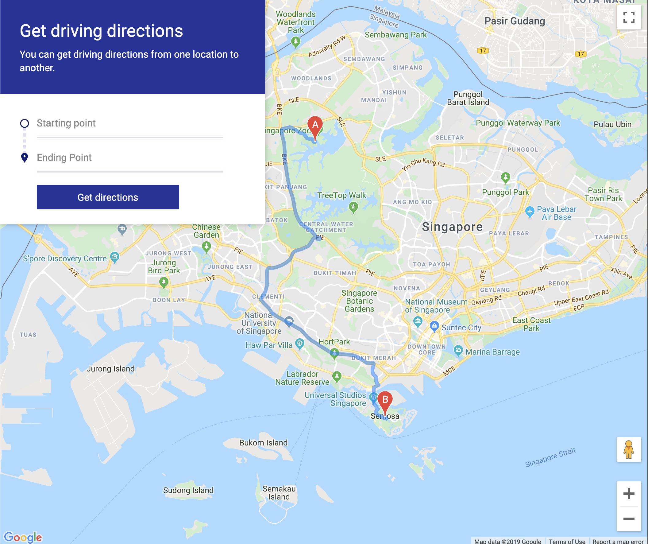 ️ Google Maps Clone: Driving directions  Learn JavaScript